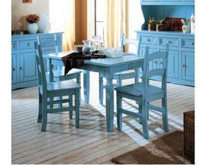Sedia e tavoli in legno massello