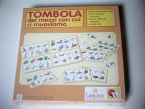 TOMBOLA ILLUSTRATA dei TRASPORTI Means of locomotion bingo