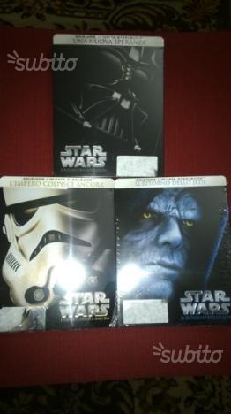 Trilogia Star Wars in blu ray edizione limitata