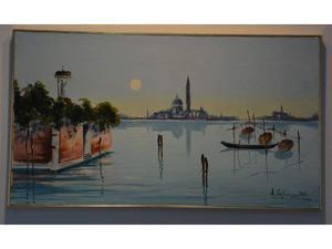 Venezia olio su tela di capuzzo