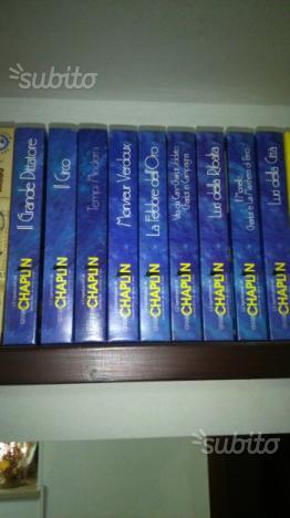 Videocassette VHS originali film di C. Chaplin