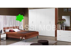 Camera da letto eco ciliegio e bianca arredamenti tavassi