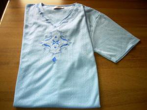 Camicia da notte azzurro taglia xl