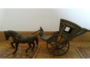 Carrozza a cavallo in ottone Vintage