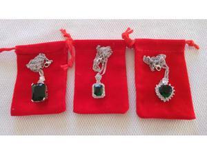 Collana girocollo zirconi bianchi e pietre verdi