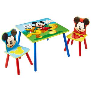 Disney 3 Pz Set Tavolo e Sedie Mickey Mouse in Legno