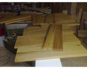 Scalini gradini in legno massello di iroko