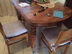 Tavolo allungabile+ 4 sedie dell'800