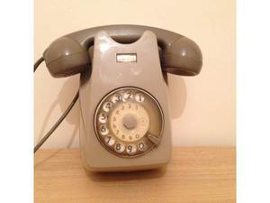 Telefono a disco grigio
