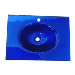 Lavabo bagno da incasso bucciato blu