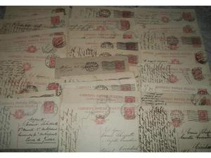 Lotto 35 cartoline postali del  verso Zona di Guerra