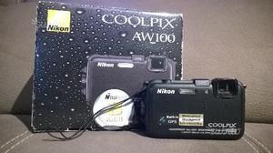 Nikon CoolPix AW100 SUBACQUEA + SECONDA BATTERIA