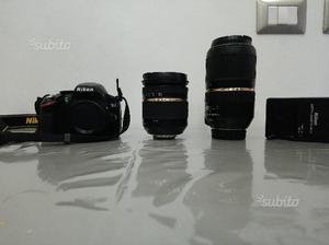Nikon d come nuova, con due meravigliosi obiet