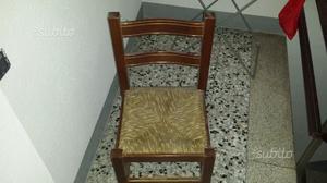 Sedie legno massello impagliate