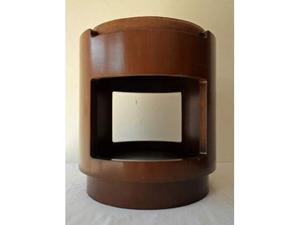 Sgabello in legno anni '60