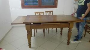 Tavolo legno massello stile romagnolo