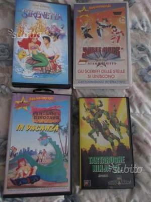 Vhs film di animazione/cartoni animati - usate