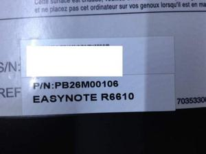 Ricambi per Packard Bell Easy note R