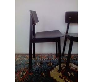 Set di due sedie nere
