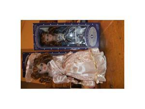 2 bambole porcellana collezione victorian style