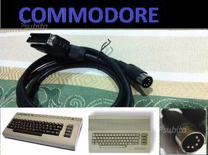 Cavo SCART audio video composito Commodore 64