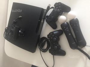 Console PS3 con giochi e PS Move