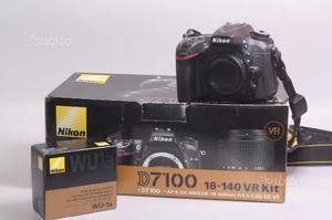 Fotocamera digitale reflex nikon d+wifi wu-1a