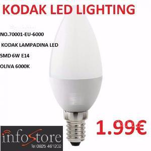 Kodak lampadina led smd 6w e14 oliva k