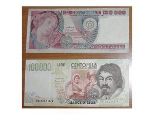 Lotto n.2 banconote da  lire volto di donna e