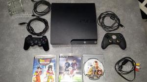 Playstation 3 slim 500 gb 9 giochi 2 Joistik