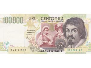 R. 3 Banconote lire  Caravaggio, seconda serie, FDS