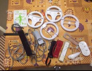 Wii nera con accessori