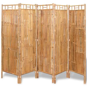 vidaXL 5 Pannelli Divisori/da Recinzione in Bambù 200x160