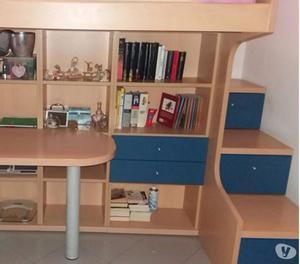 Letto a soppalco con scrivania posot class - Letto soppalco con scrivania ...