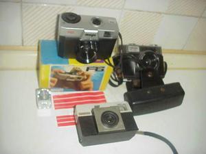 Lotto 3 fotocamere vintage collezione macchine fotografiche