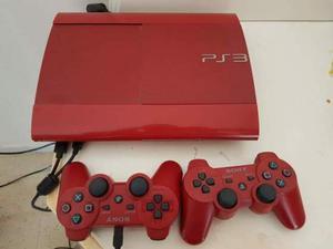 Ps3 ultraslim rossa,volante e 8 giochi