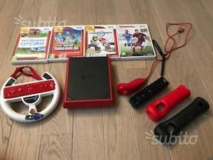 Wii Mini - Console, Black/Red con Mario Kart Wii