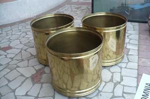 8 fioraie in ottone e ceramica varie misure