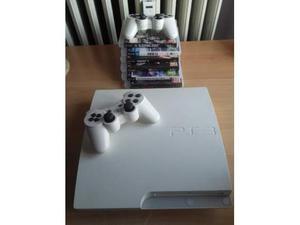 PS3 Bianca 500gb + 2 controller + 6 giochi