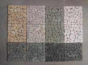 Set 11 piastrelle mosaico 6 scatole vari colori