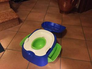 Vasino con coperchio, riduttore per wc e contenitori