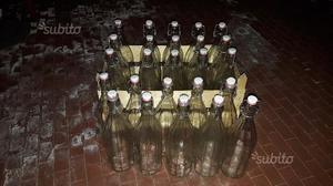 Bottiglie in vetro 1L con tappo 25 bottiglie