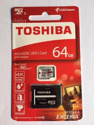 Micro SDXC UHS-I Card Toshiba 64 gb con adattatore