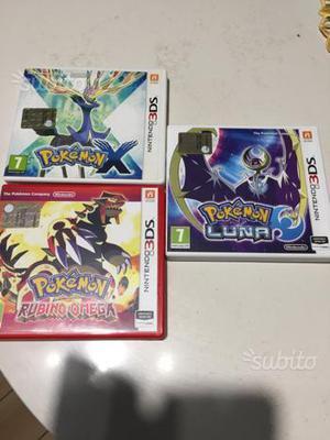 Nintendo 3DS Pokemon X, RUBINO OMEGA, LUNA