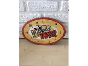 Orologio a muro COLD BEER immagine pubblicitaria birra