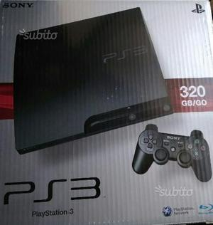 PS3 slim 320gb +giochi+2controller+film