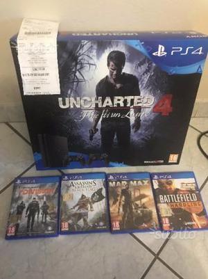 PS4 versione SLIM da 1 Terabyte + 4 giochi