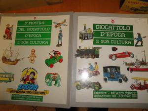 2 libri di mostra del giocattolo d'epoca