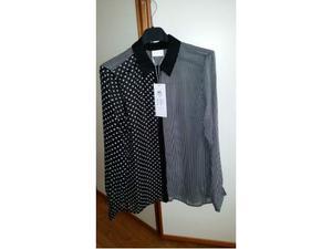 Camicia marca VILA colore bianco e nero Tg M