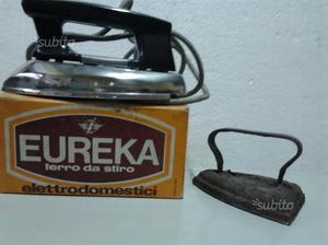 Ferro stiro elettrico vintage e ferro ghisa epoca